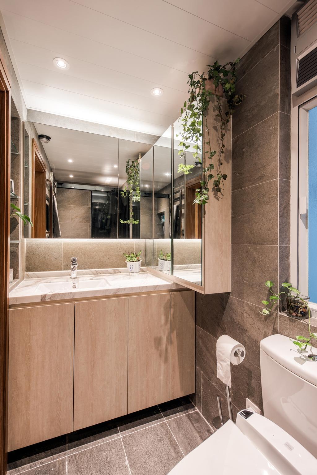 當代, 私家樓, 浴室, 華翠園, 室內設計師, BC+ Design Studio, 傳統, Indoors, Interior Design