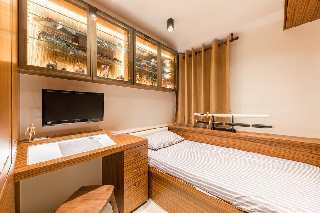 當代, 私家樓, 睡房, 華翠園, 室內設計師, BC+ Design Studio, 傳統, Indoors, Interior Design