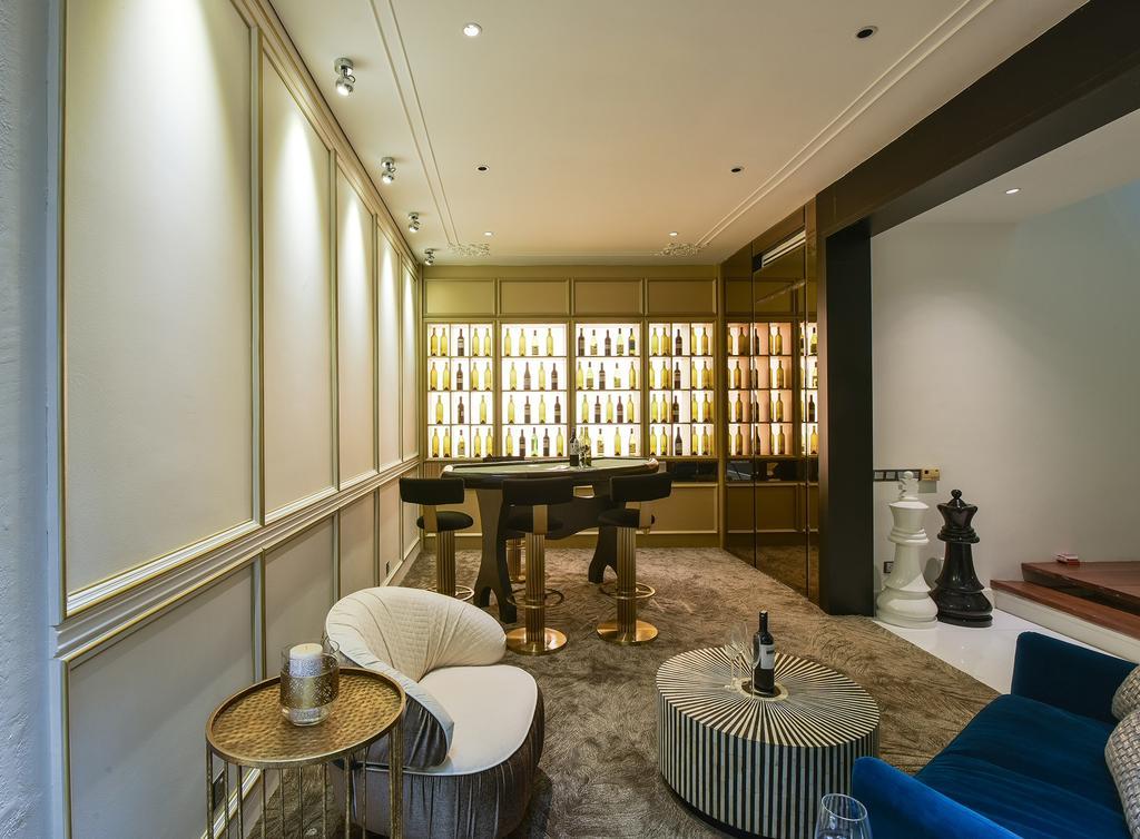 Retro, Landed, East Residence, KLGCC Mont Kiara, Interior Designer, SQFT Space Design Management, Vintage, Contemporary, Couch, Furniture, Chair, Dining Room, Indoors, Interior Design, Room