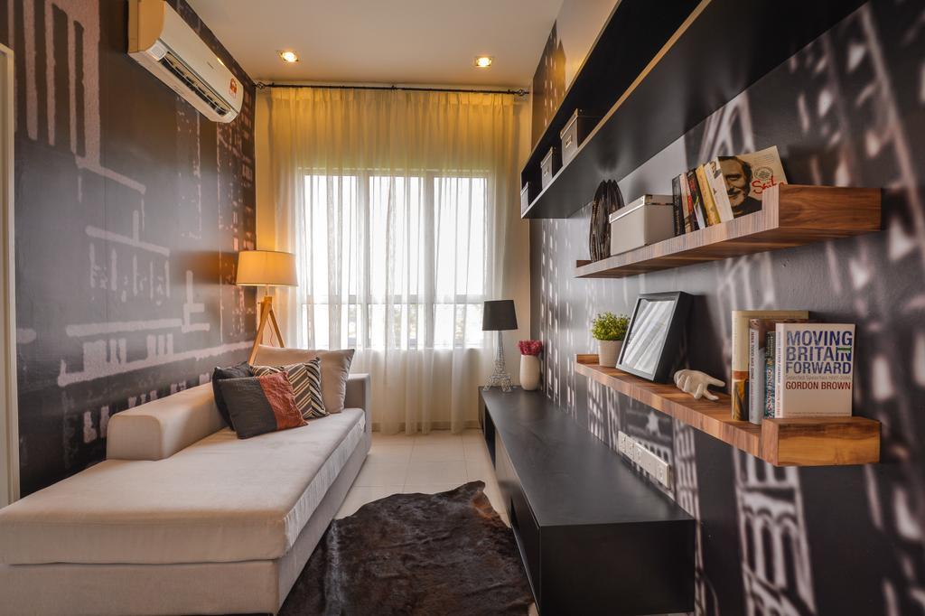Modern, Landed, Setia Ecohill, Hulu Langat, Interior Designer, SQFT Space Design Management, Contemporary, Shelf, Indoors, Interior Design