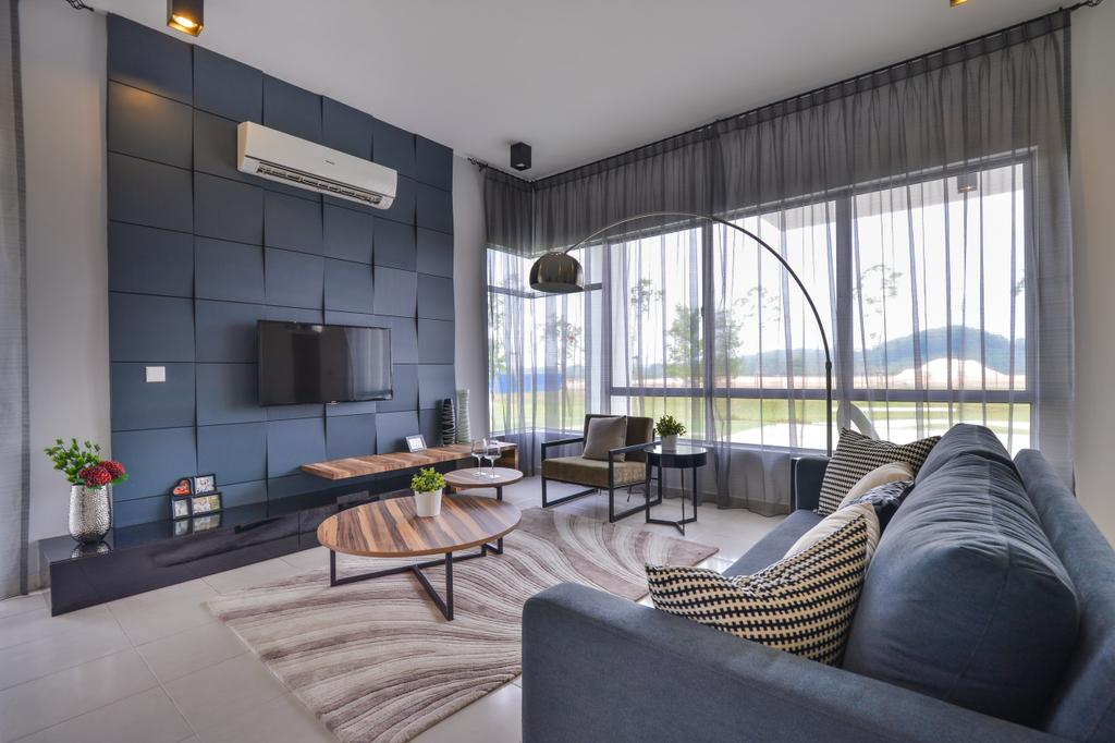 Modern, Landed, Setia Ecohill, Hulu Langat, Interior Designer, SQFT Space Design Management, Contemporary, Couch, Furniture, Dining Table, Table, Coffee Table, Apartment, Building, Housing, Indoors, Loft