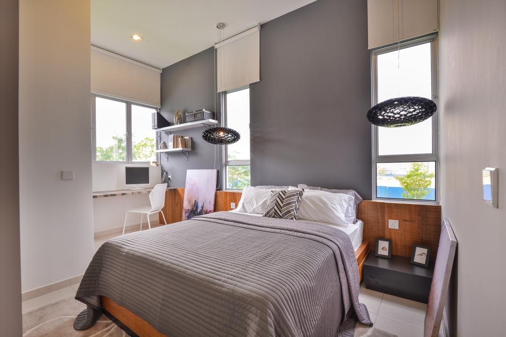 Modern, Landed, Setia Ecohill, Hulu Langat, Interior Designer, SQFT Space Design Management, Contemporary, Bedroom, Indoors, Interior Design, Room