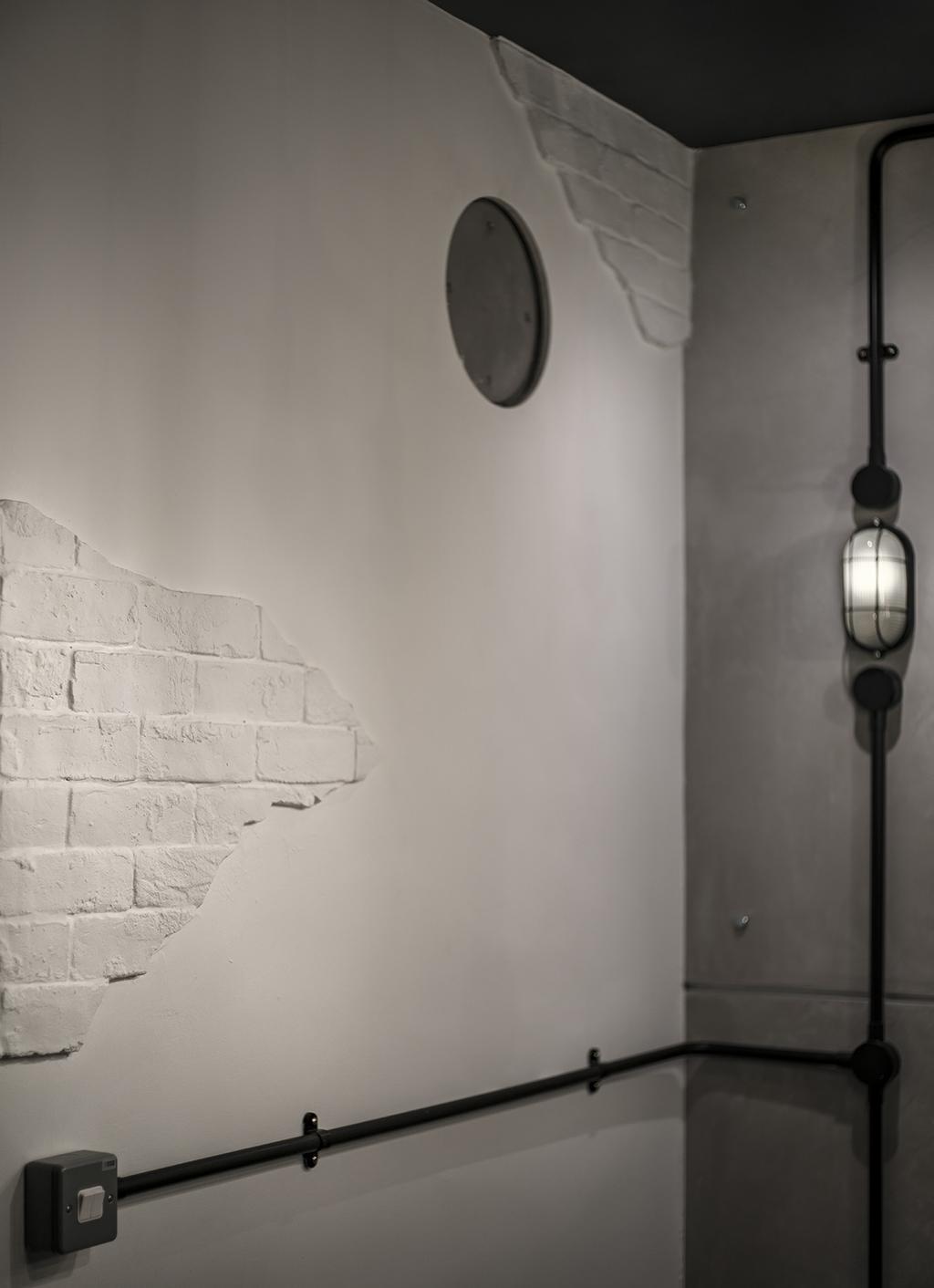 Industrial, HDB, Sumang Walk (Block 217B), Interior Designer, Posh Home, Pole, Lamp