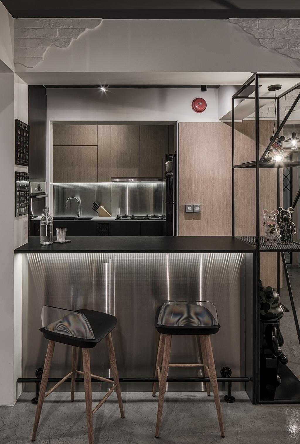 Industrial, HDB, Dining Room, Sumang Walk (Block 217B), Interior Designer, Posh Home, Indoors, Interior Design, Kitchen, Room