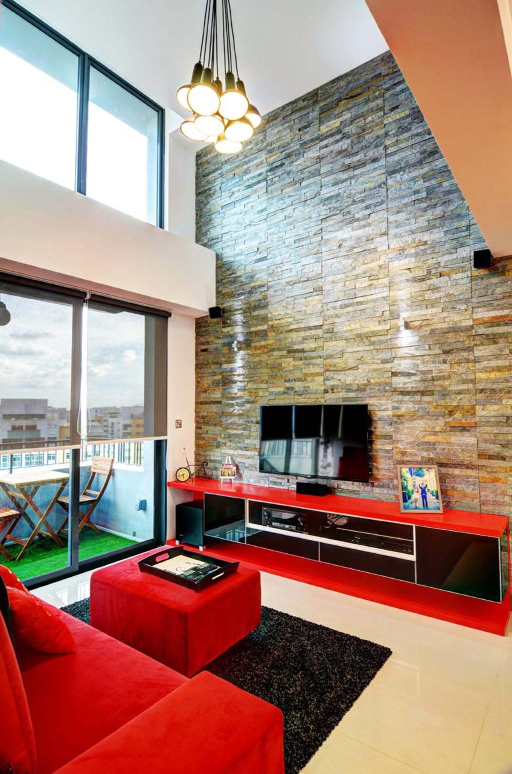 Eclectic, Condo, Living Room, The Prive, Architect, FOMA Architects, Fireplace, Hearth