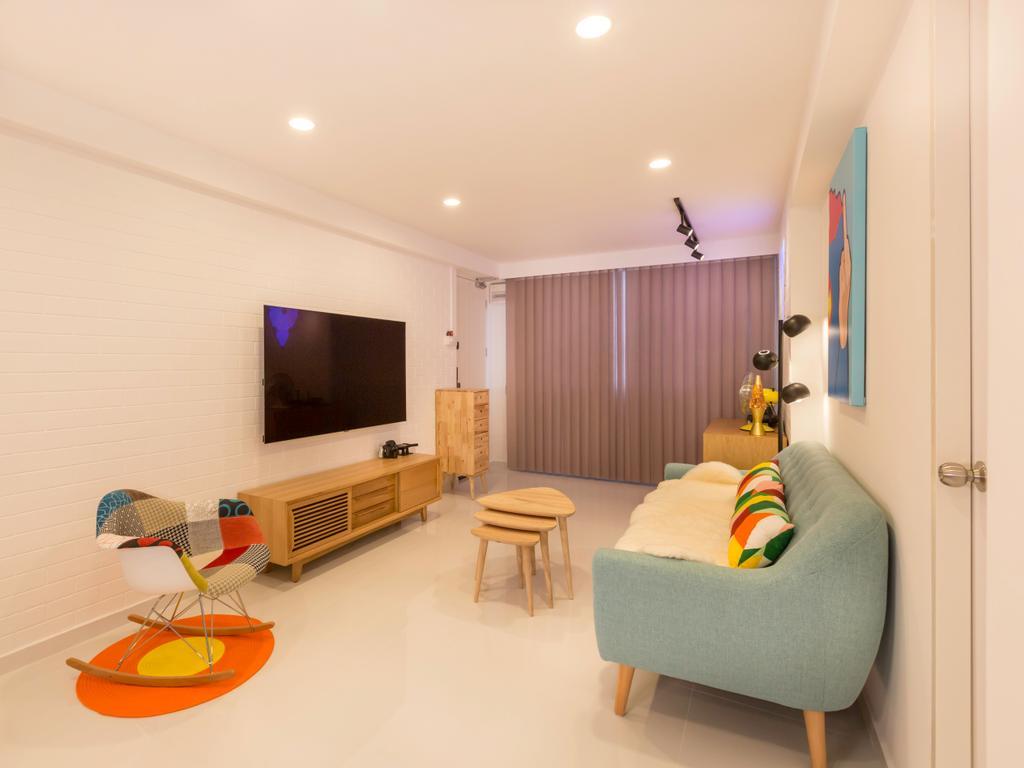 Minimalistic, HDB, Living Room, Sun Plaza Green @Tampines Street 41, Interior Designer, Le Interi, Furniture