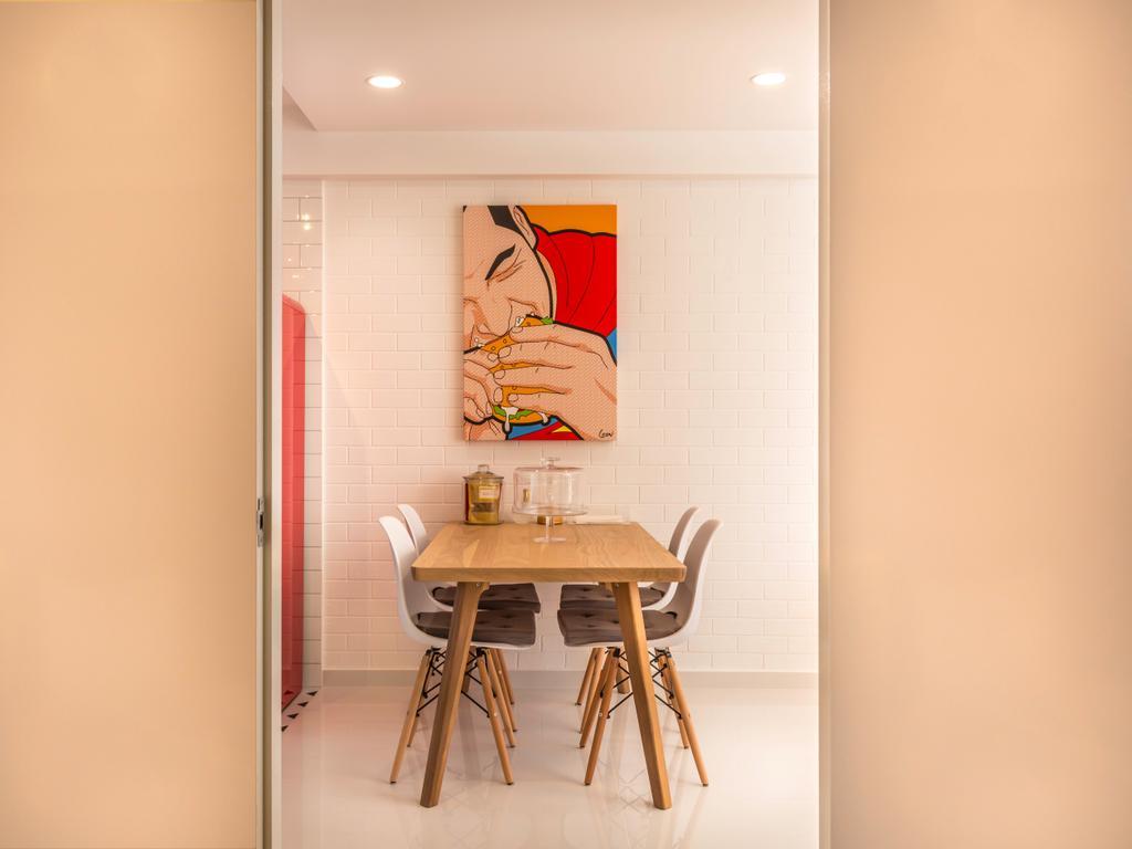 Minimalistic, HDB, Dining Room, Sun Plaza Green @Tampines Street 41, Interior Designer, Le Interi, Indoors, Interior Design, Room
