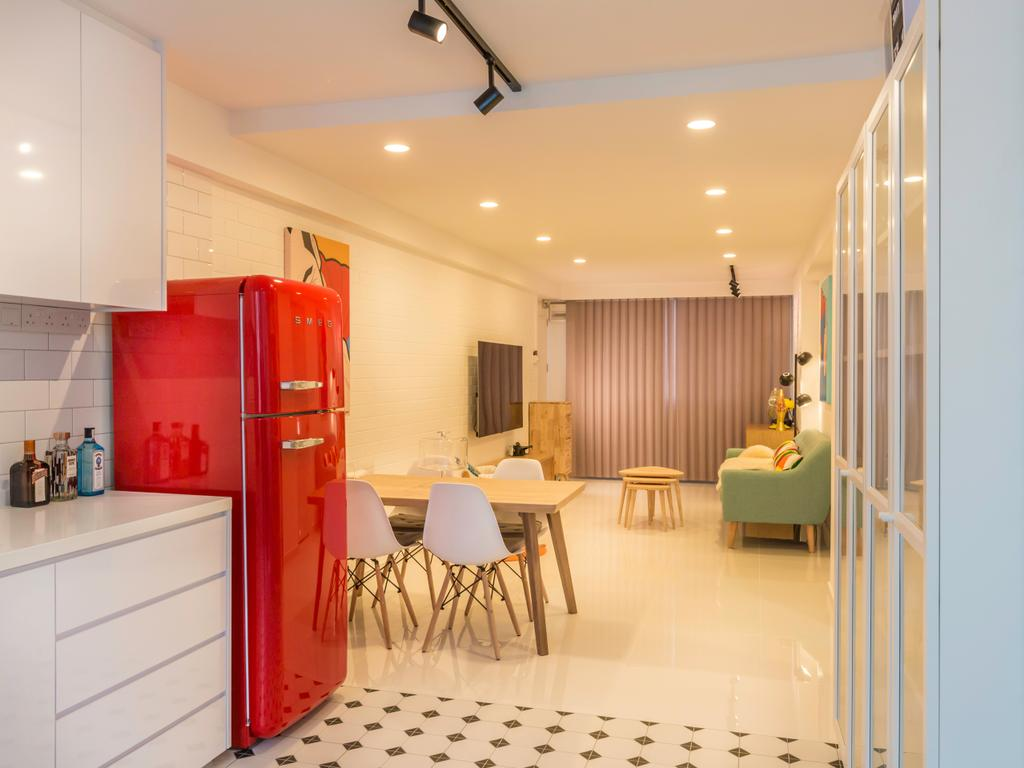 Minimalistic, HDB, Dining Room, Sun Plaza Green @Tampines Street 41, Interior Designer, Le Interi, Flooring, Indoors, Interior Design, Chair, Furniture