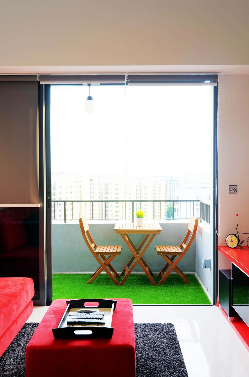Eclectic, Condo, Balcony, The Prive, Architect, FOMA Architects, Chair, Furniture