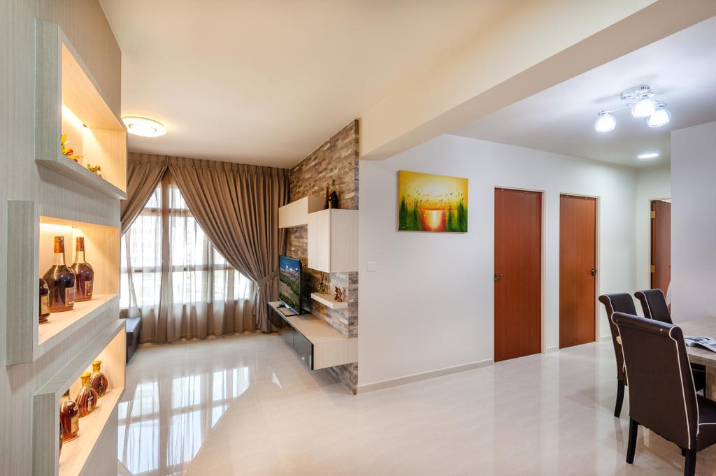 Contemporary, HDB, Living Room, Keat Hong Pride, Interior Designer, Le Interi, Chair, Furniture