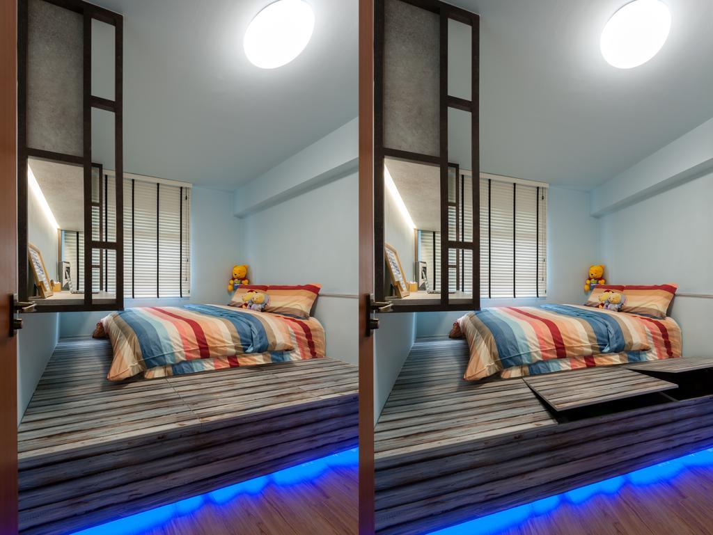 Contemporary, HDB, Bedroom, Keat Hong Pride, Interior Designer, Le Interi