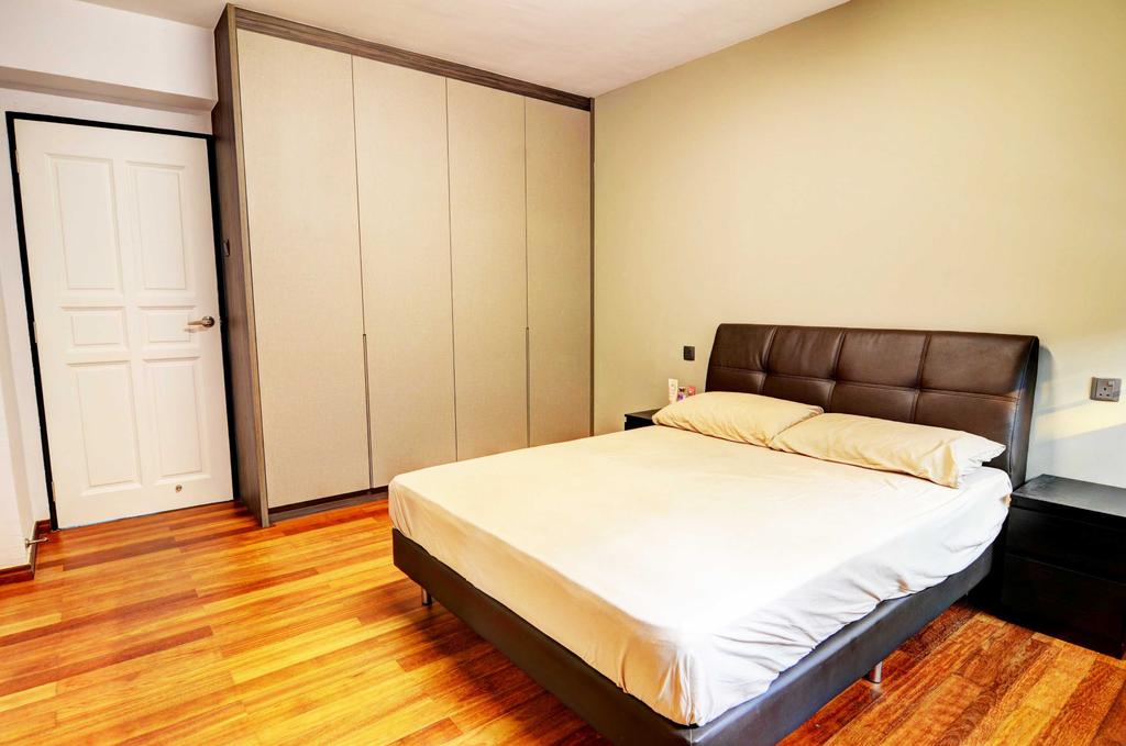 Modern, HDB, Bedroom, Whampoa (Block 112), Architect, FOMA Architects, Bed, Furniture