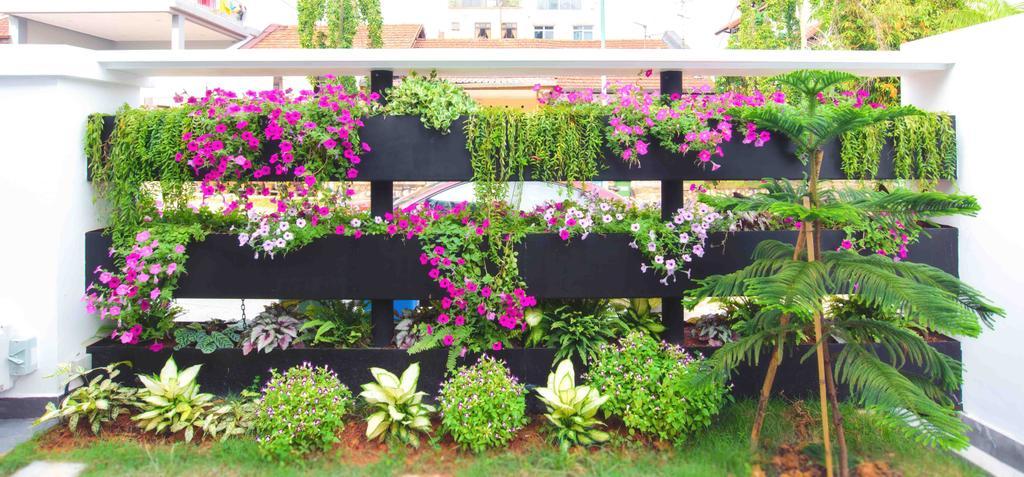 Contemporary, Landed, 57 Seraya Crescent, Architect, FOMA Architects, Blossom, Flora, Flower, Geranium, Plant, Herbs, Jar, Planter, Potted Plant, Pottery, Vase, Garden, Gardening, Outdoors