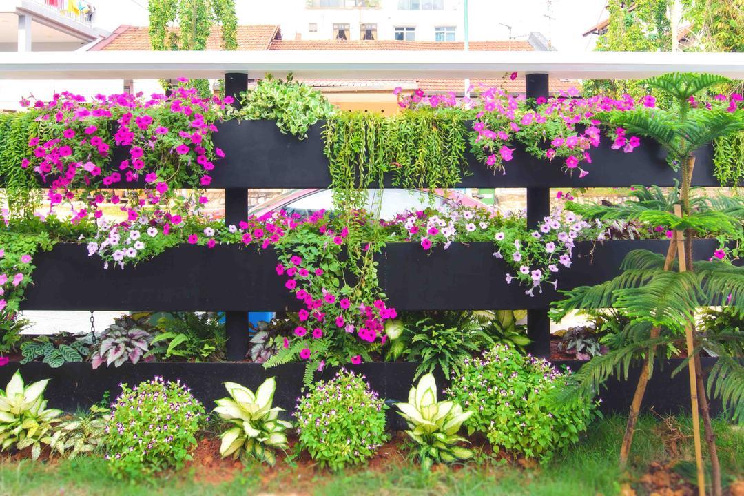 57 Seraya Crescent, FOMA Architects, Contemporary, Landed, Blossom, Flora, Flower, Geranium, Plant, Herbs, Jar, Planter, Potted Plant, Pottery, Vase, Garden, Gardening, Outdoors