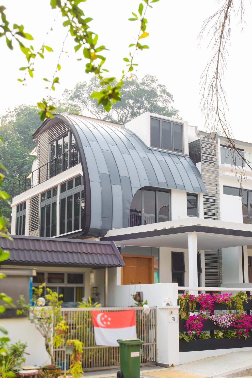 Contemporary, Landed, 57 Seraya Crescent, Architect, FOMA Architects, Awning, Canopy, Building, Housing, Balcony
