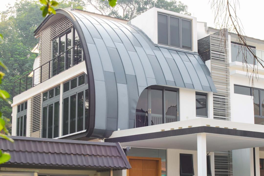 57 Seraya Crescent, FOMA Architects, Contemporary, Landed, Awning, Canopy, Building, Housing, Balcony