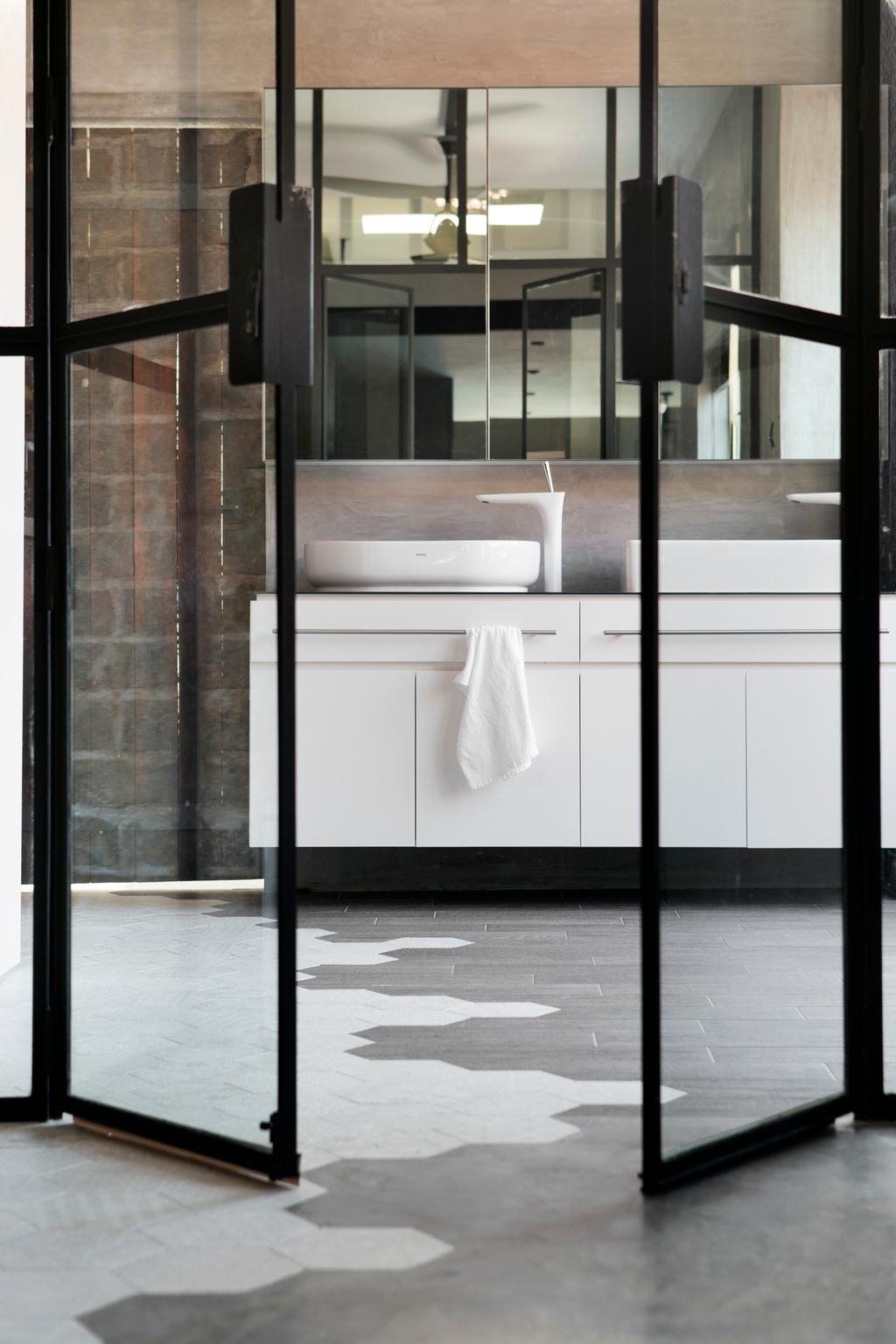 Industrial, HDB, Joo Chiat Road (Block 257B), Interior Designer, Prozfile Design, Door, Sliding Door, Towel