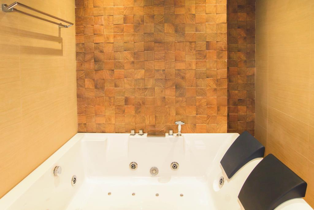 Contemporary, Landed, Bathroom, 57 Seraya Crescent, Architect, FOMA Architects, Jacuzzi, Tub
