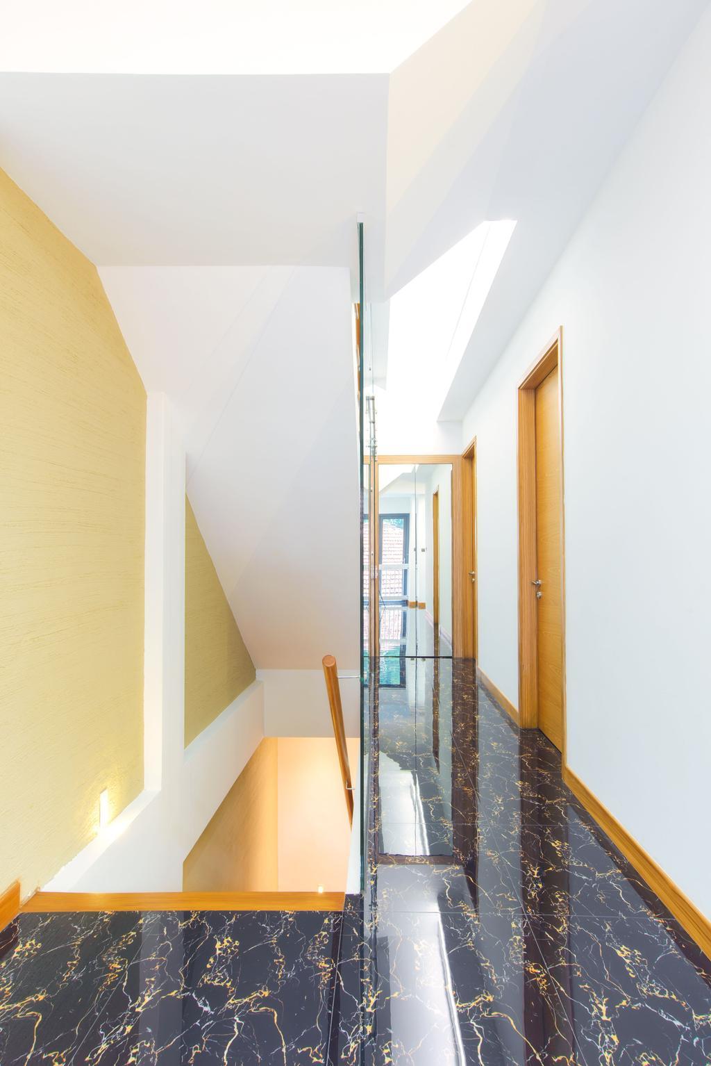 Contemporary, Landed, 57 Seraya Crescent, Architect, FOMA Architects, Indoors, Interior Design, Jar, Pottery, Vase, Banister, Handrail