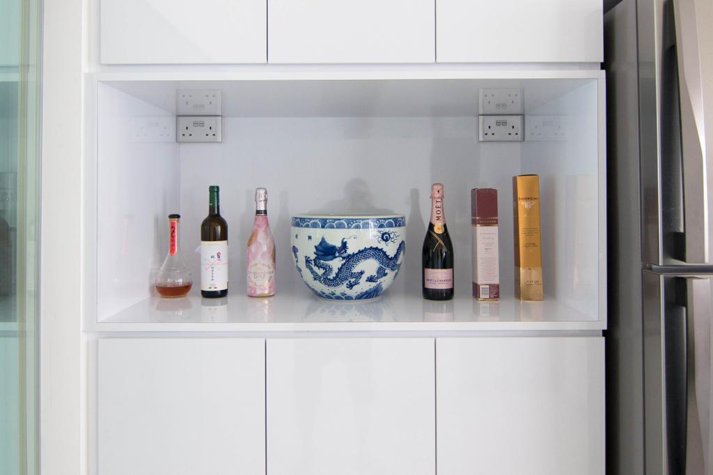 Minimalistic, Condo, Kitchen, Lakeside Drive (Block 2), Interior Designer, 9 Creation, Modern, Appliance, Electrical Device, Fridge, Refrigerator
