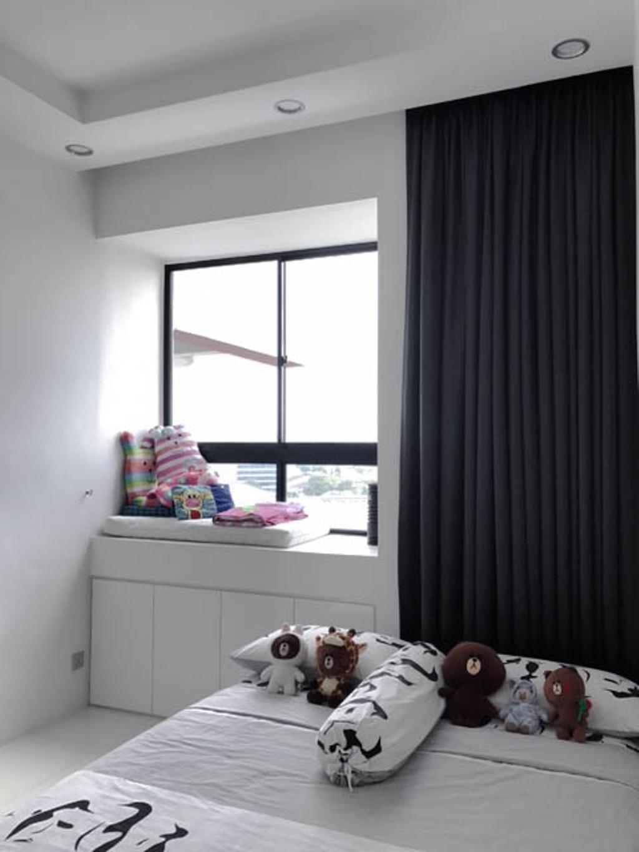 Minimalistic, Condo, Bedroom, Lakeside Drive (Block 2), Interior Designer, 9 Creation, Modern, Indoors, Interior Design, Room, Furniture, Studio Couch