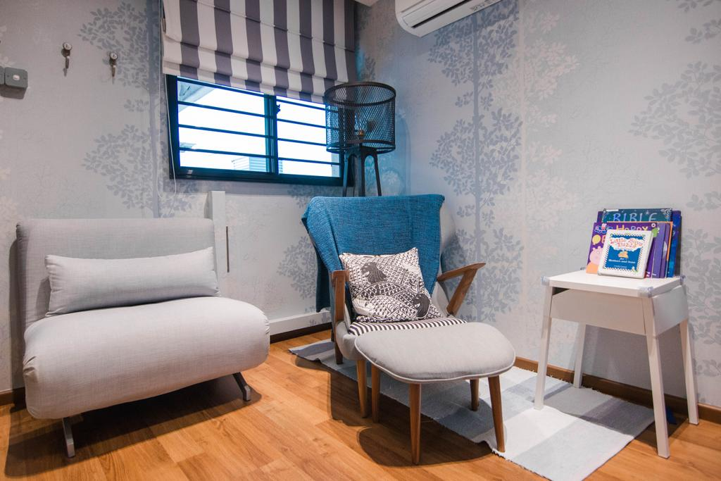 Minimalistic, HDB, Living Room, Marine Drive, Interior Designer, 9 Creation, Eclectic, Chair, Furniture, Couch, Building, Housing, Indoors