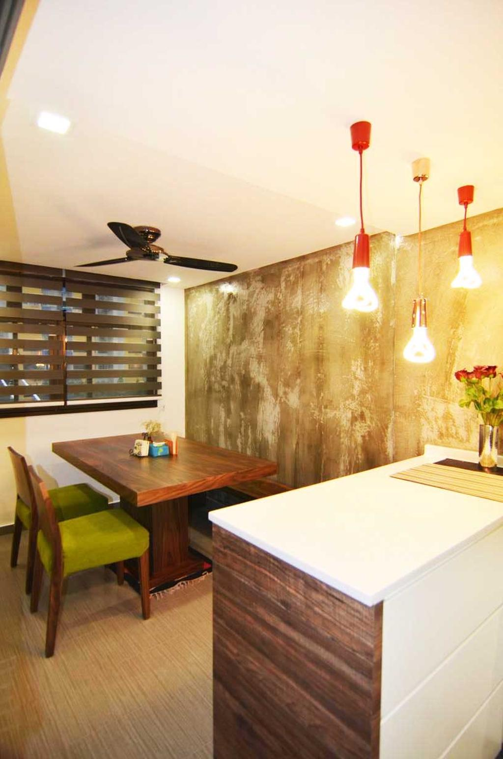 Eclectic, HDB, Dining Room, Toa Payoh (Block 204), Architect, FOMA Architects, Dining Table, Furniture, Table, Indoors, Interior Design, Room, Hardwood, Stained Wood, Wood