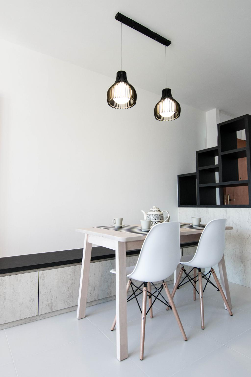 Scandinavian, HDB, Dining Room, Pasir Ris Street 51 (Block 525C), Interior Designer, 9 Creation, Indoors, Interior Design, Room, Dining Table, Furniture, Table, Chair, Bookcase