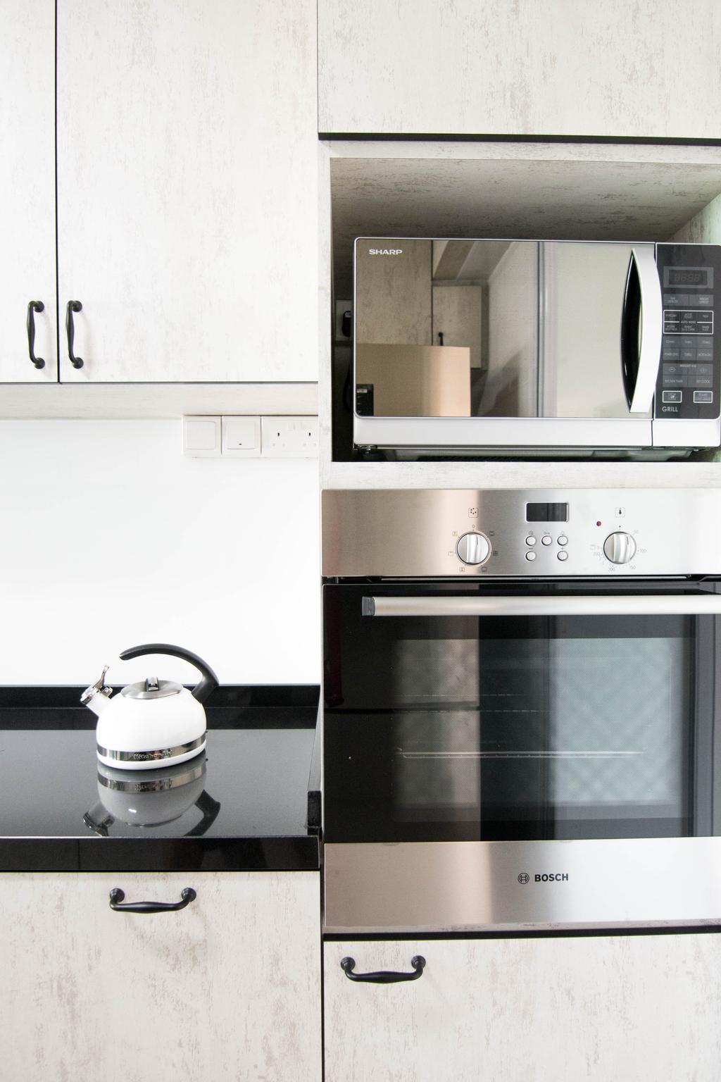 Scandinavian, HDB, Kitchen, Pasir Ris Street 51 (Block 525C), Interior Designer, 9 Creation, Kettle, Pot, Appliance, Electrical Device, Oven