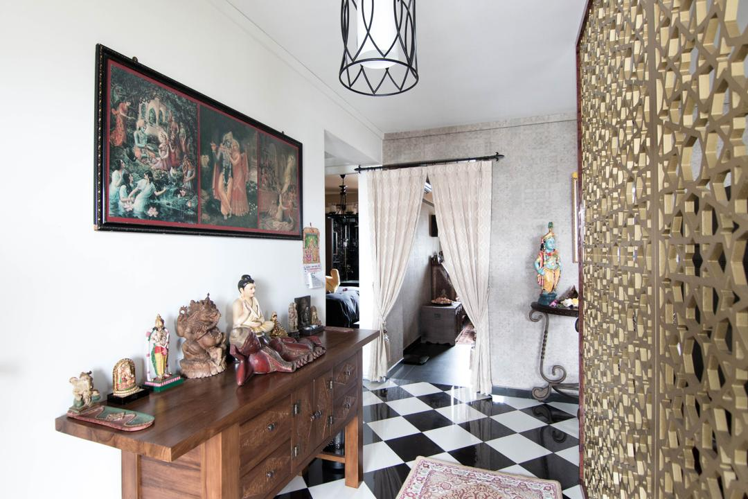 Hougang Avenue 10 (Block 513), 9 Creation, Traditional, Living Room, HDB, Figurine, Indoors, Interior Design, Dining Room, Room