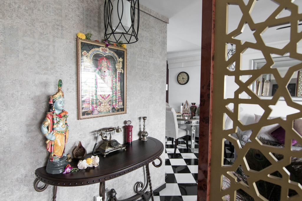 Traditional, HDB, Living Room, Hougang Avenue 10 (Block 513), Interior Designer, 9 Creation, Dining Room, Indoors, Interior Design, Room, Architecture, Building, Shrine, Temple, Worship