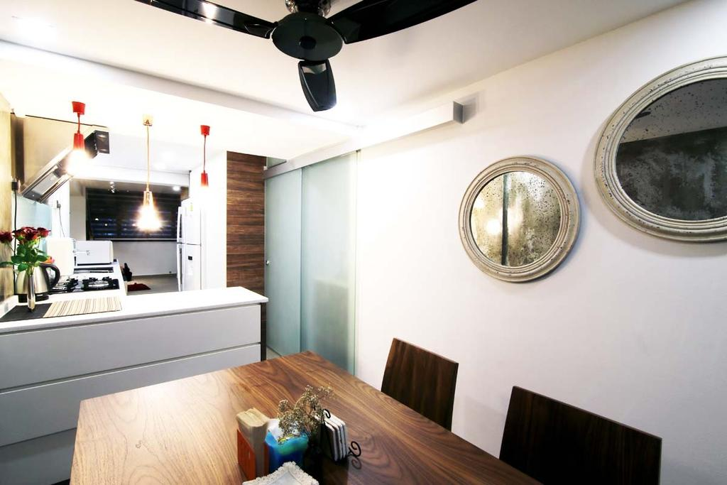 Eclectic, HDB, Dining Room, Toa Payoh (Block 204), Architect, FOMA Architects, Plywood, Wood