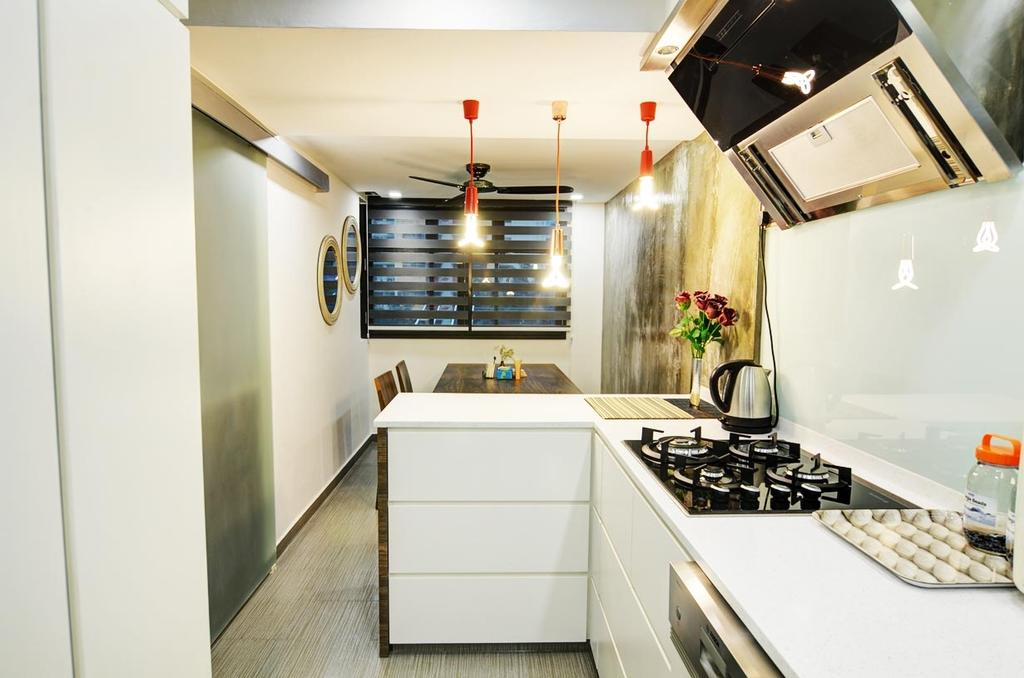 Eclectic, HDB, Kitchen, Toa Payoh (Block 204), Architect, FOMA Architects, Indoors, Interior Design