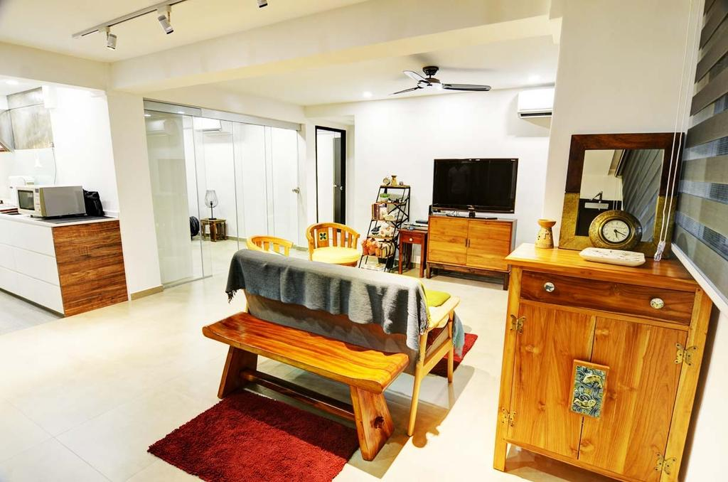 Eclectic, HDB, Living Room, Toa Payoh (Block 204), Architect, FOMA Architects, Furniture, Sideboard