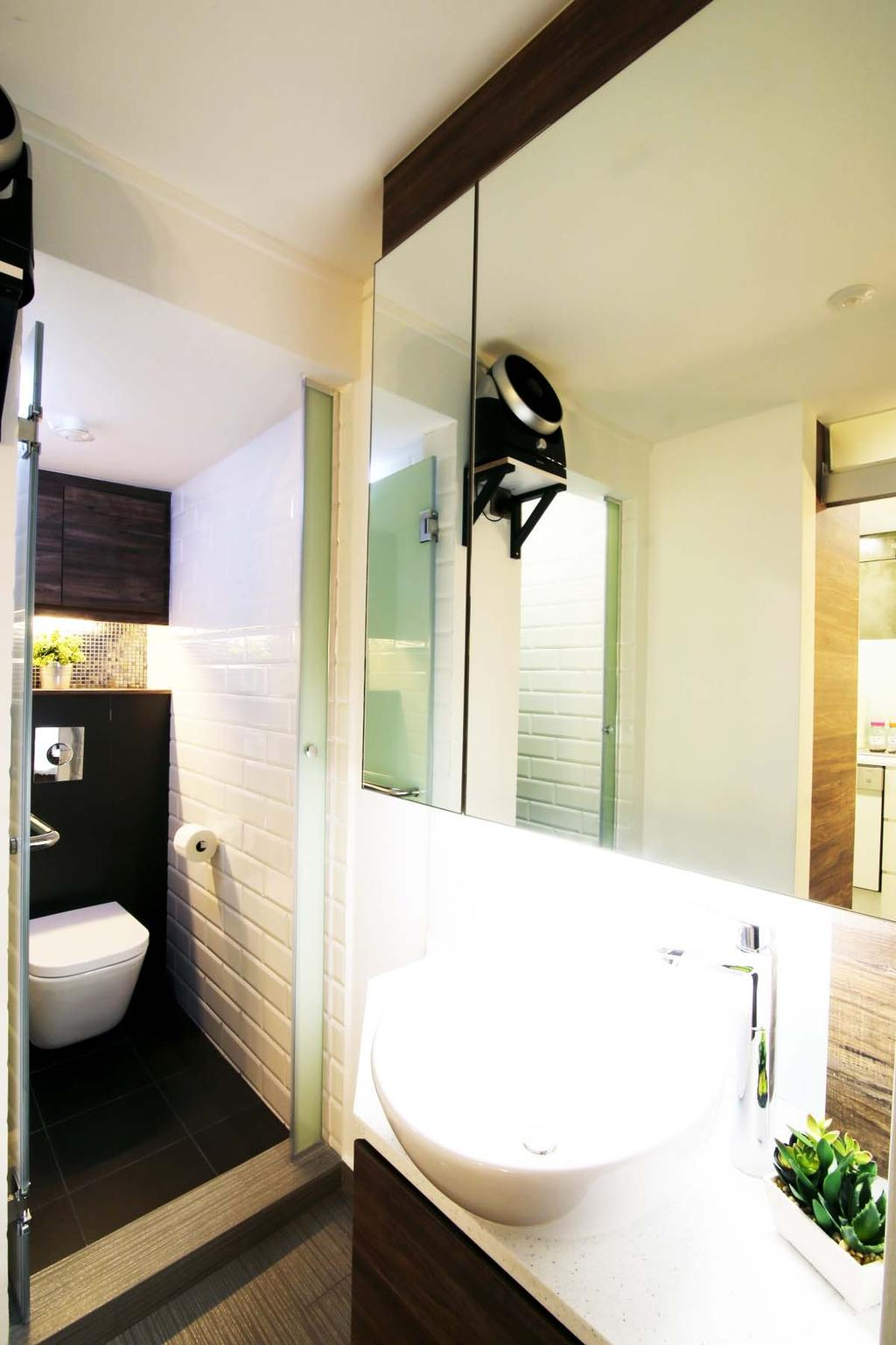 Eclectic, HDB, Bathroom, Toa Payoh (Block 204), Architect, FOMA Architects, Indoors, Interior Design, Room