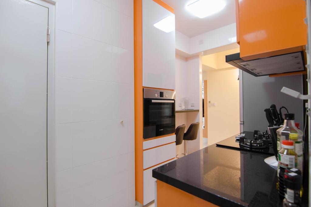 Modern, HDB, Kitchen, Clementi Avenue 4 (Block 312B), Interior Designer, 9 Creation, Appliance, Electrical Device, Oven, Bottle