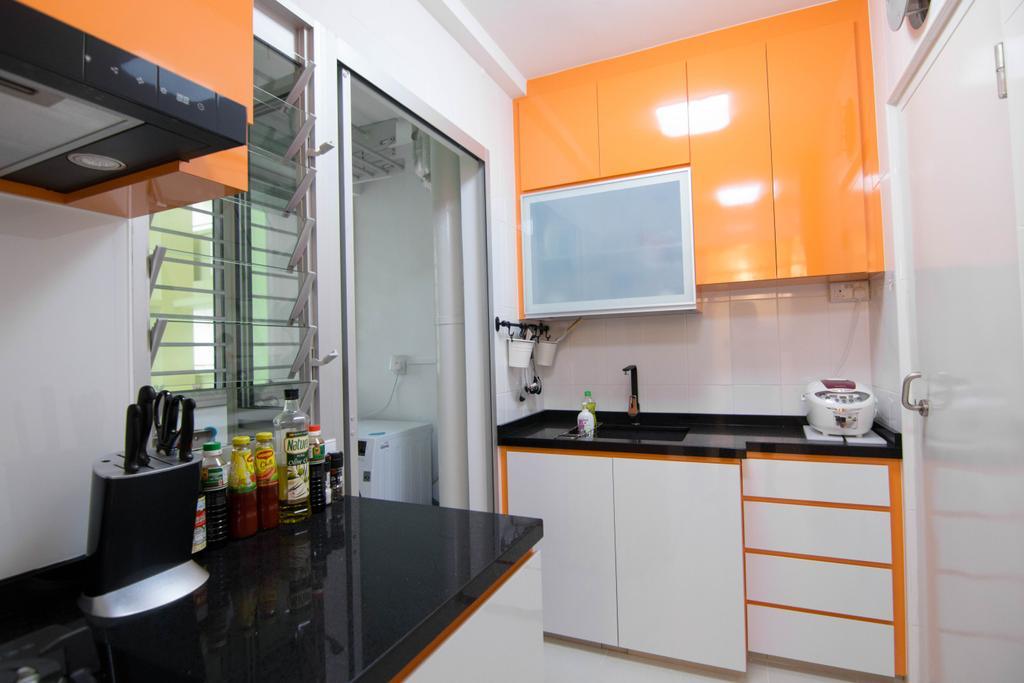 Modern, HDB, Kitchen, Clementi Avenue 4 (Block 312B), Interior Designer, 9 Creation, Indoors, Interior Design, Room