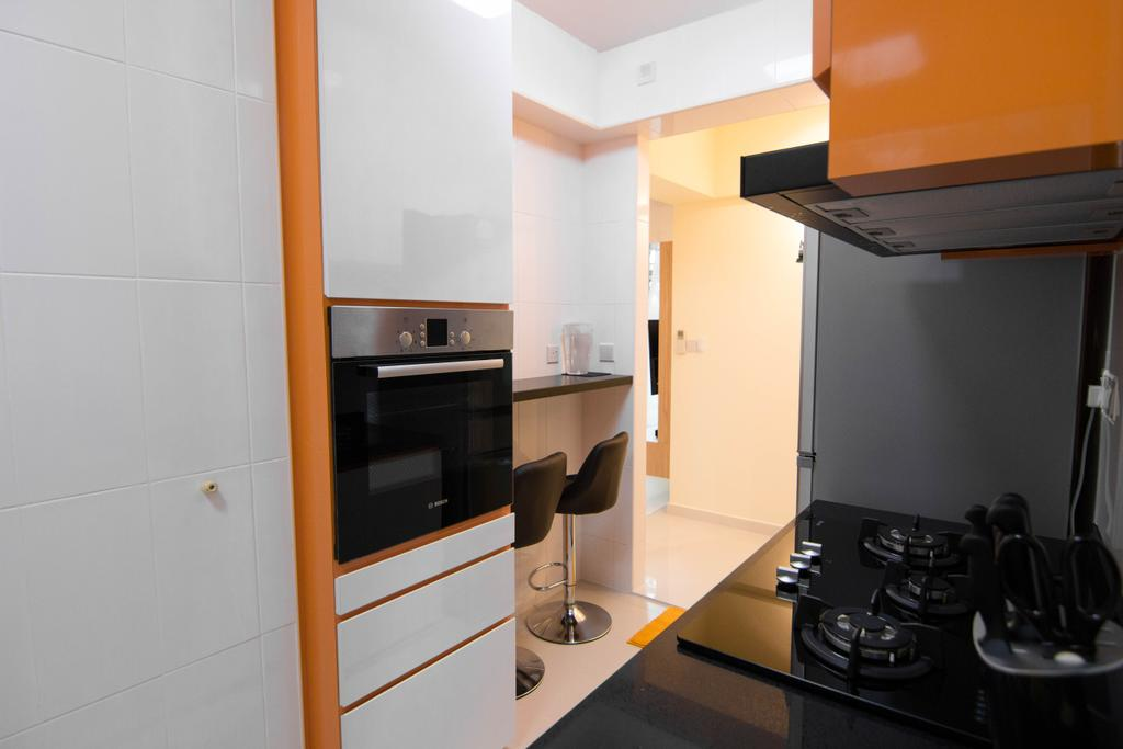 Modern, HDB, Kitchen, Clementi Avenue 4 (Block 312B), Interior Designer, 9 Creation, Appliance, Electrical Device, Oven, Building, Housing, Indoors, Shelf