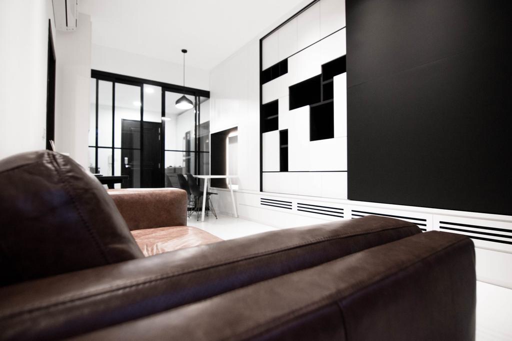 Contemporary, HDB, Living Room, Braddell Road, Interior Designer, 9 Creation, Industrial