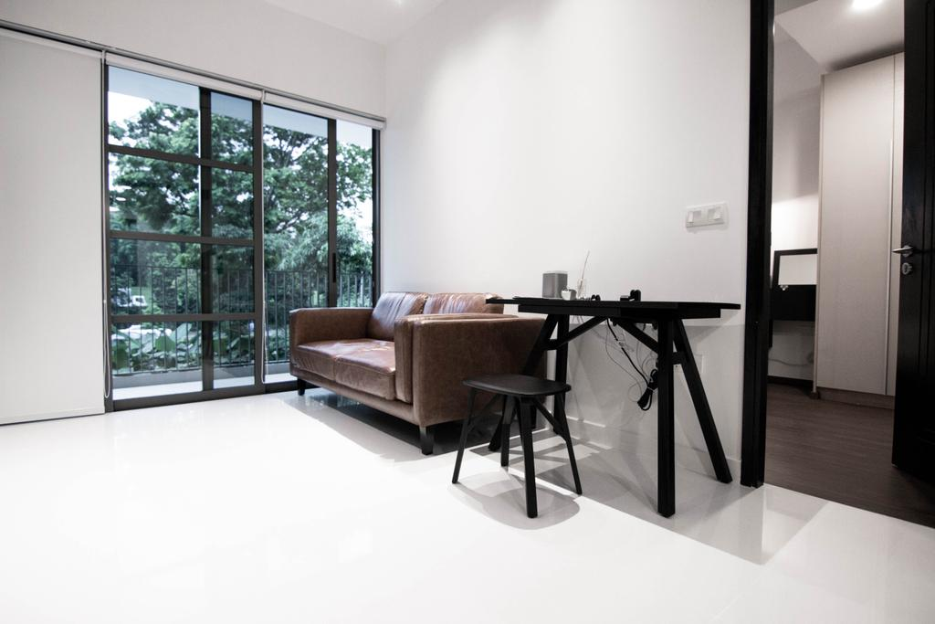 Contemporary, HDB, Living Room, Braddell Road, Interior Designer, 9 Creation, Industrial, Dining Table, Furniture, Table