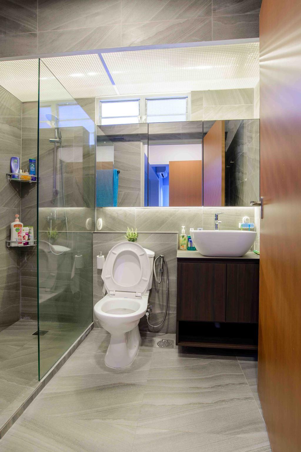 Minimalistic, HDB, Bathroom, Anchorvale Street (Block 330A), Architect, FOMA Architects, Toilet