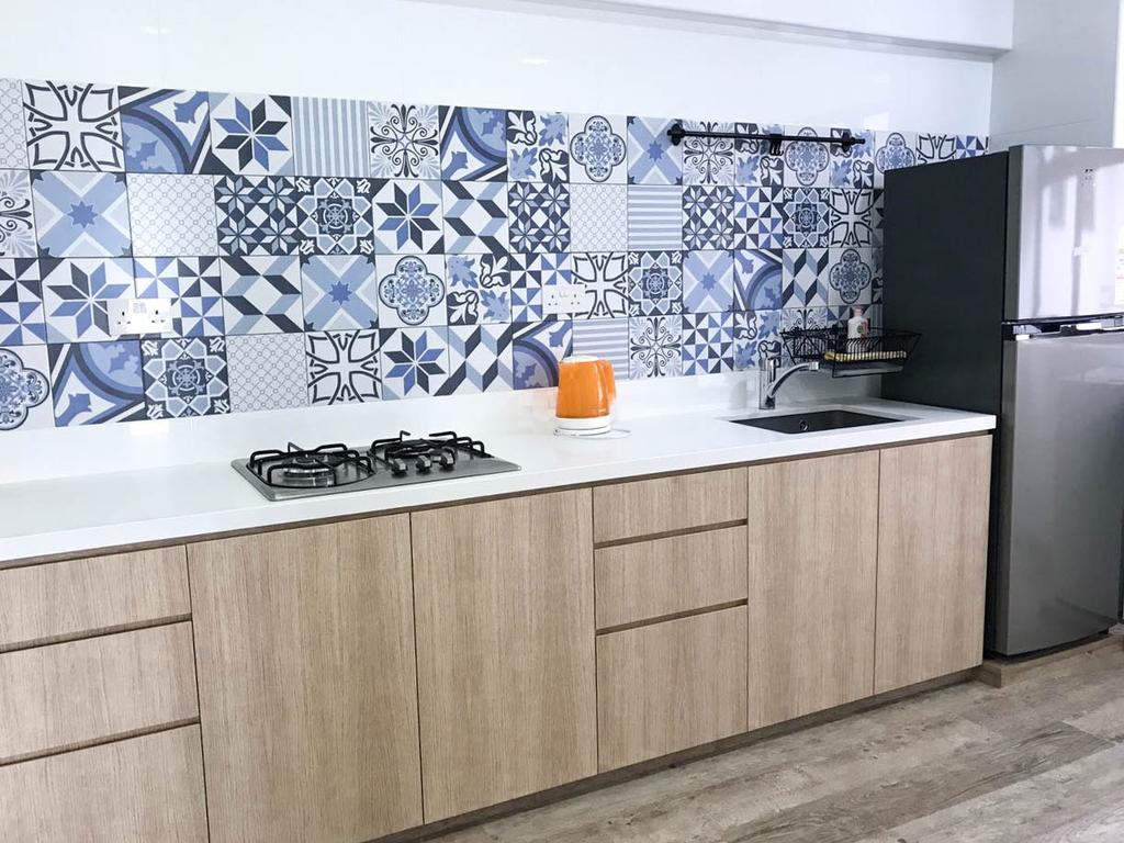 Minimalistic, HDB, Kitchen, Clementi Avenue 3 (Block 462), Interior Designer, 9 Creation, Contemporary, Appliance, Electrical Device, Fridge, Refrigerator