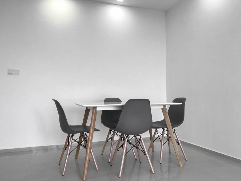 Minimalistic, HDB, Dining Room, Clementi Avenue 3 (Block 462), Interior Designer, 9 Creation, Contemporary, Chair, Furniture, Dining Table, Table, Bar Stool