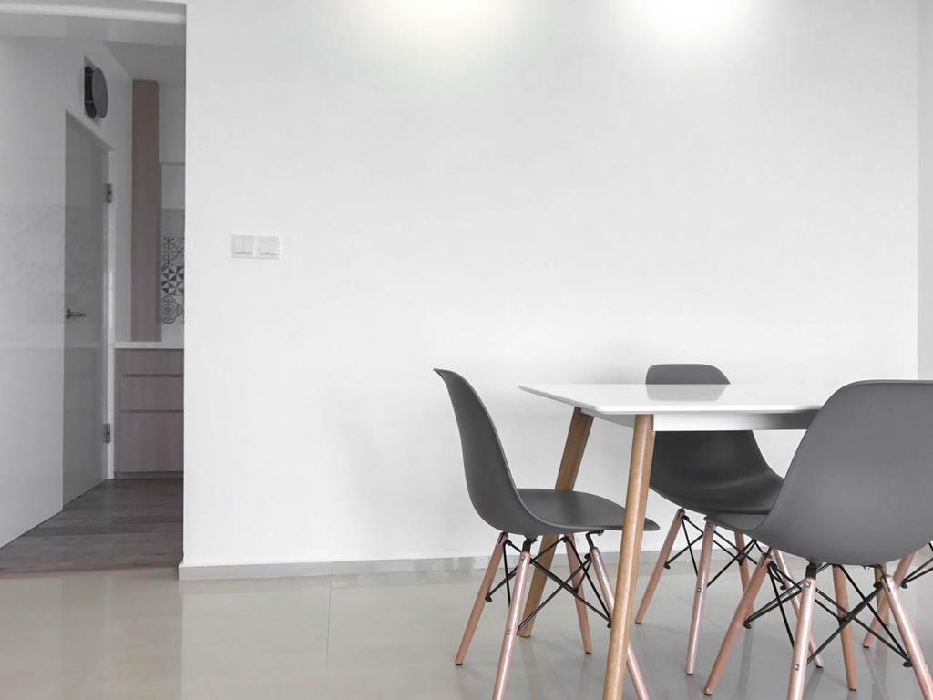 Minimalistic, HDB, Dining Room, Clementi Avenue 3 (Block 462), Interior Designer, 9 Creation, Contemporary, Chair, Furniture