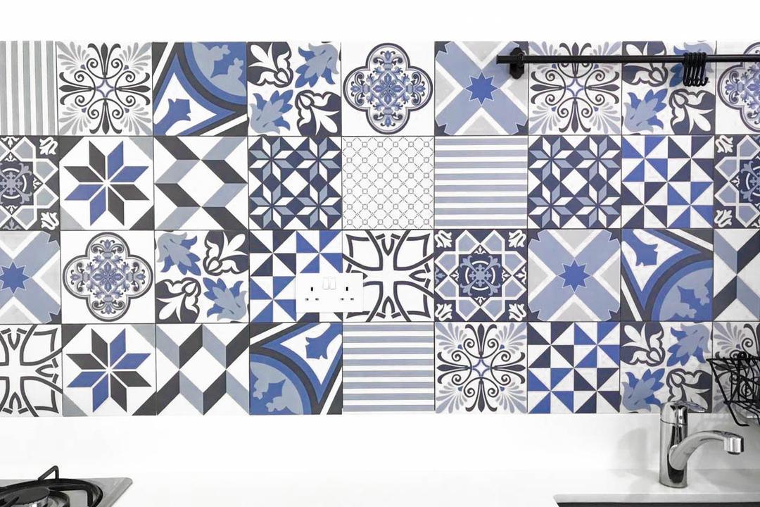 Clementi Avenue 3 (Block 462), 9 Creation, Minimalistic, Contemporary, Kitchen, HDB, Art, Doodle, Drawing