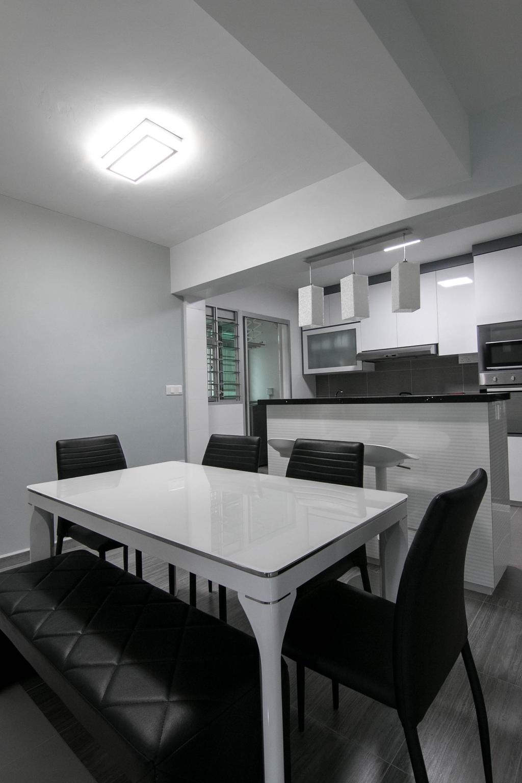 Modern, HDB, Dining Room, Choa Chu Kang Avenue 7 (Block 815B), Interior Designer, 9 Creation, Sink, Couch, Furniture