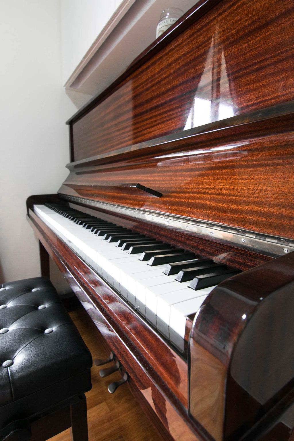 Scandinavian, Condo, Study, Sea Horizon, Interior Designer, 9 Creation, Contemporary, Grand Piano, Leisure Activities, Music, Musical Instrument, Piano