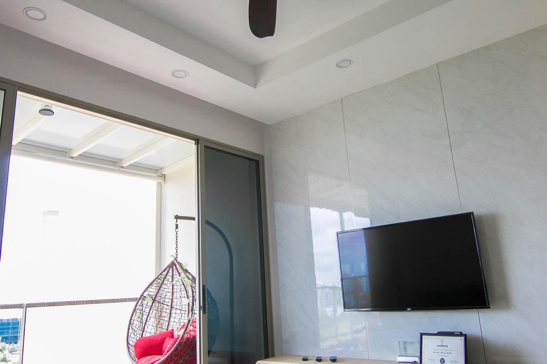 Sea Horizon, 9 Creation, Scandinavian, Contemporary, Living Room, Condo, Hoop, Electronics, Lcd Screen, Monitor, Screen