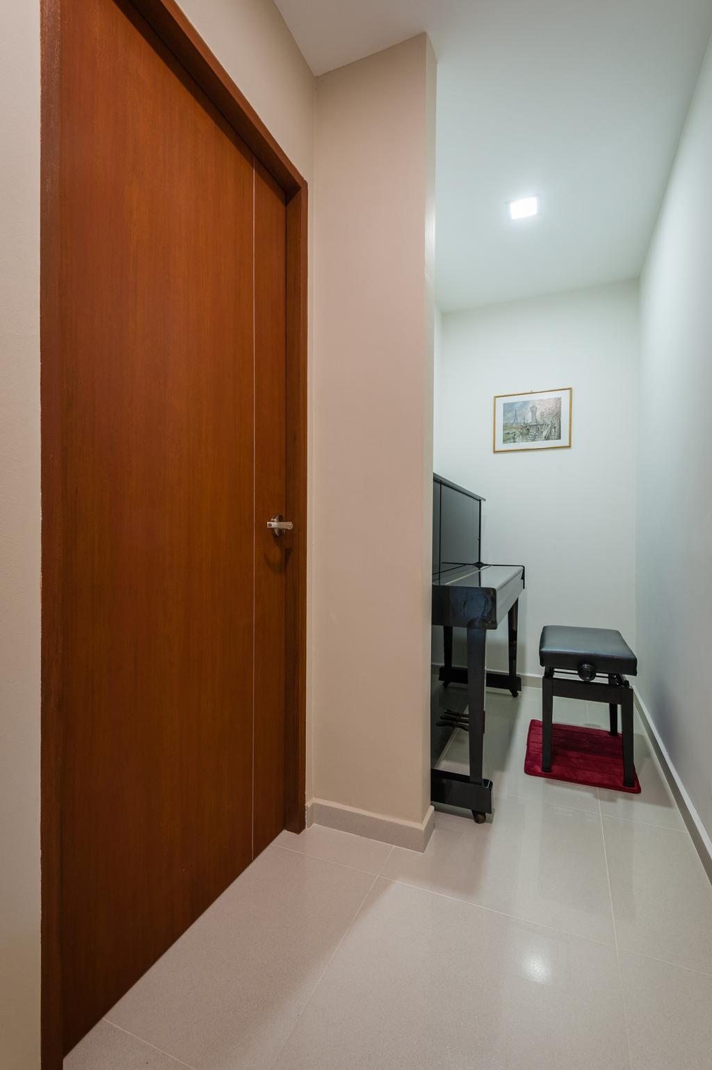 Traditional, HDB, Petir Road (Block 150), Interior Designer, Le Interi, Piano, Piano Room, Chair, Furniture, Art, Art Gallery, Dining Table, Table