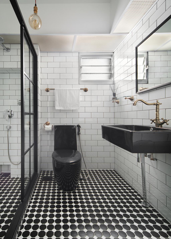 Eclectic, HDB, Bathroom, Bendemeer Road (Block 10A), Interior Designer, The Scientist, Industrial, Indoors, Interior Design, Room